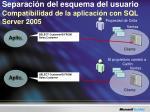 separaci n del esquema del usuario compatibilidad de la aplicaci n con sql server 2005