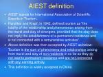 aiest definition