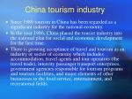 china tourism industry