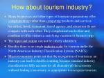 how about tourism industry