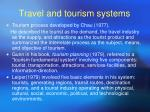 travel and tourism systems