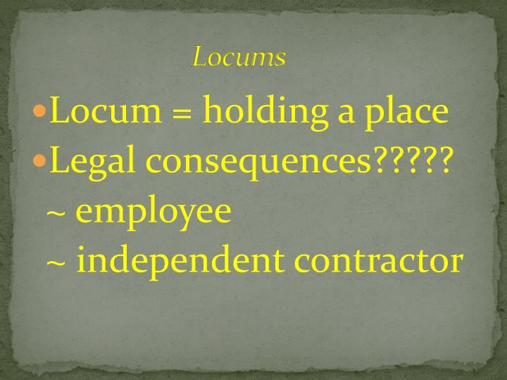 Locums