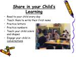 share in your child s learning