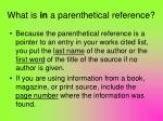 what is in a parenthetical reference