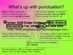 what s up with punctuation