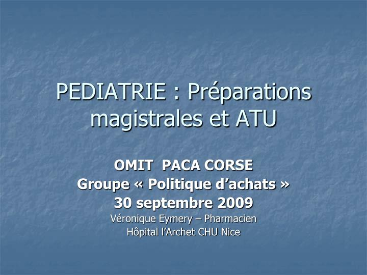 pediatrie pr parations magistrales et atu n.