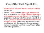 some other first page rules
