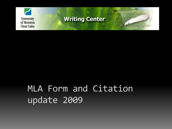 mla form and citation update 2009 n.