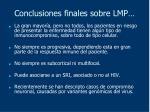 conclusiones finales sobre lmp