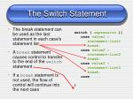 the switch statement2