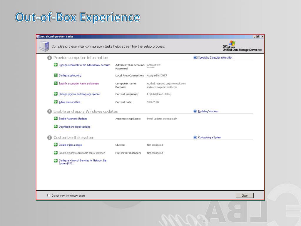PPT - Windows Storage Server PowerPoint Presentation - ID
