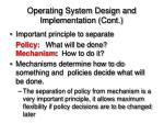 operating system design and implementation cont