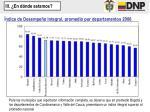 ndice de desempe o integral promedio por departamentos 2006