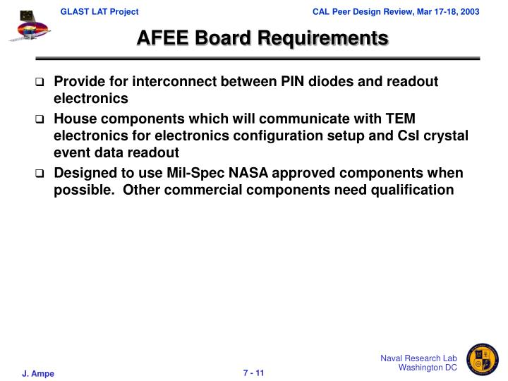 AFEE Board Requirements