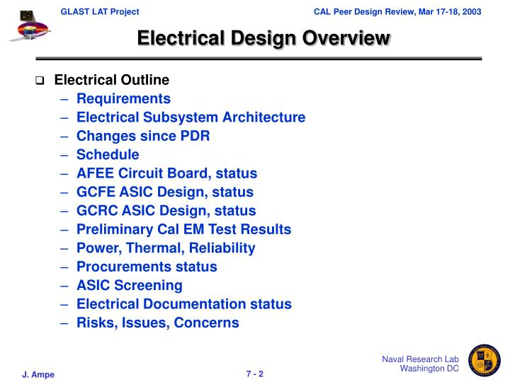 Electrical design overview