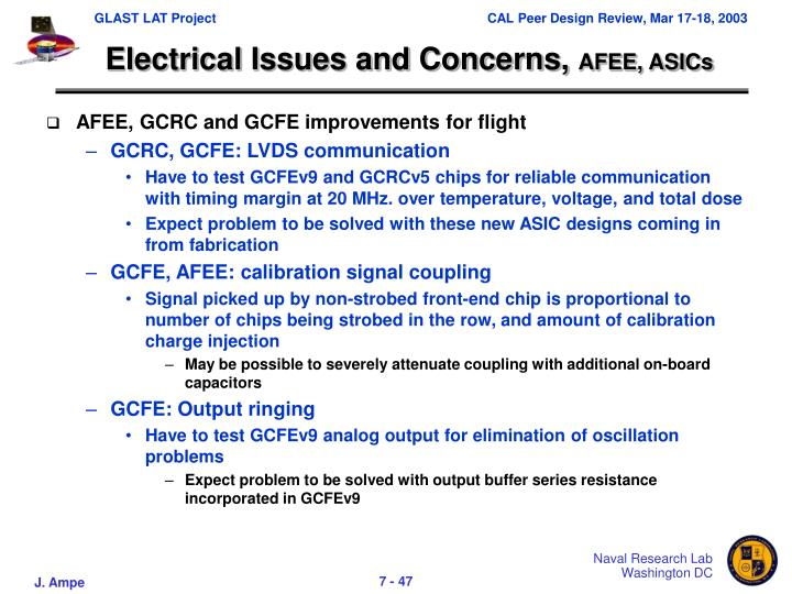 Electrical Issues and Concerns,