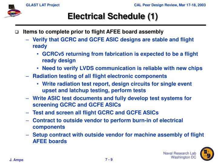 Electrical Schedule (1)