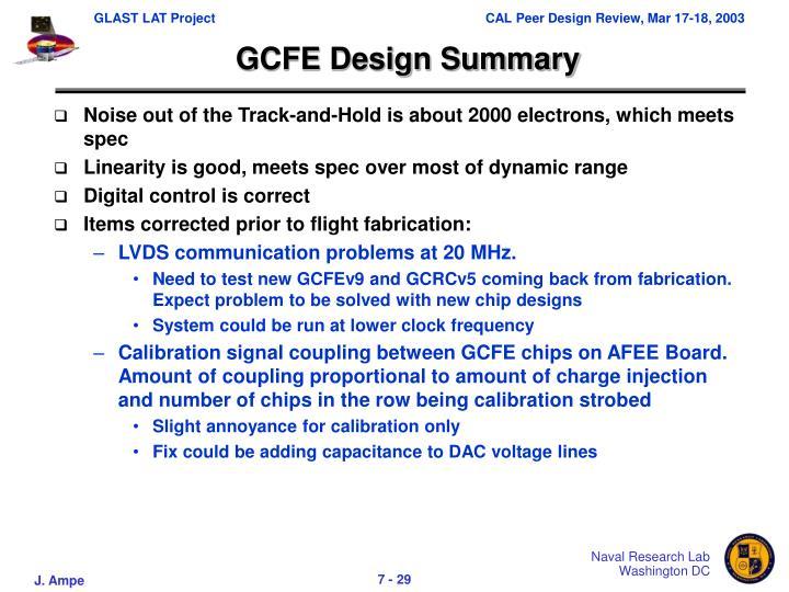GCFE Design Summary