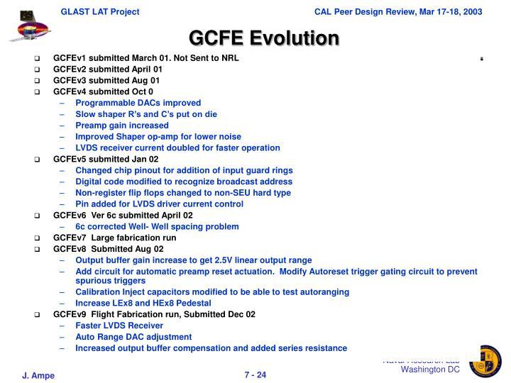 GCFE Evolution