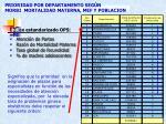 prioridad por departamento seg n morbi mortalidad materna mef y poblacion