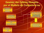 gesti n del talento humano por el modelo de competencias