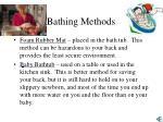 bathing methods