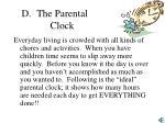 the parental clock
