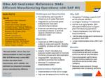 sika ag customer reference slide efficient manufacturing operations with sap mii