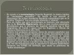 terminolog a