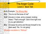 the anger cycle level 2 back talk3
