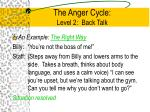 the anger cycle level 2 back talk4