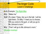 the anger cycle level 4 challenge4
