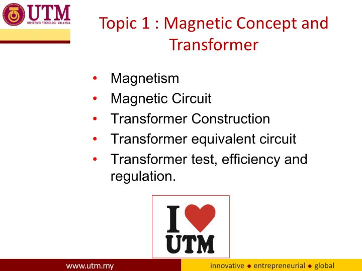 topic 1 magnetic concept and transformer n.