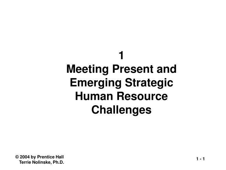 1 meeting present and emerging strategic human resource challenges n.
