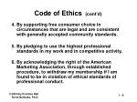 code of ethics cont d
