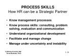 process skills how hr can be a strategic partner