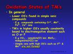 oxidation states of tm s3