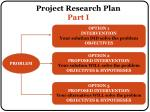 project research plan part i