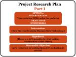 project research plan part i2