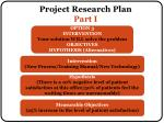 project research plan part i3