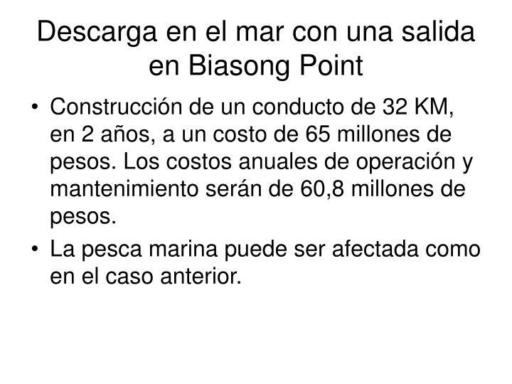 Descarga en el mar con una salida en Biasong Point
