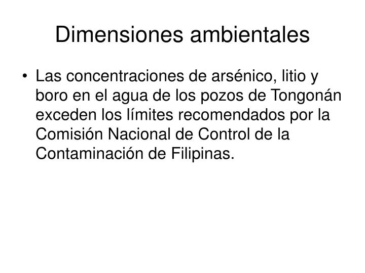 Dimensiones ambientales