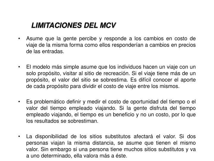 LIMITACIONES DEL MCV
