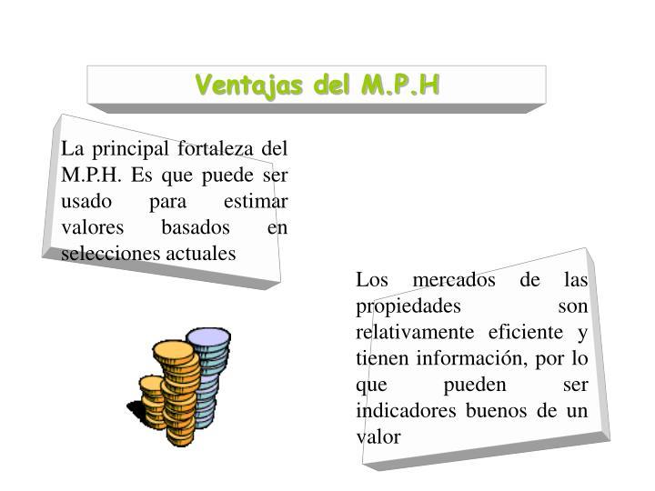 Ventajas del M.P.H
