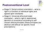 postconventional level