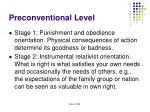 preconventional level