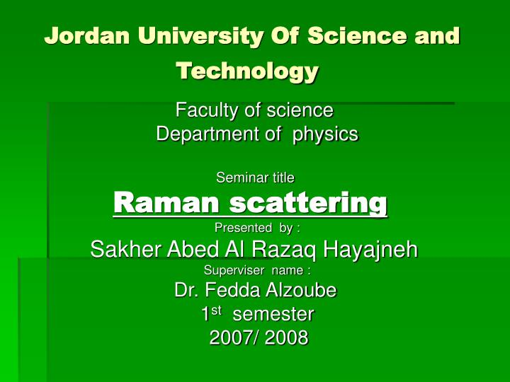 jordan university of science and technology n.