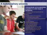 a multidisciplinary university