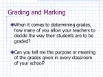 grading and marking