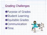 grading challenges